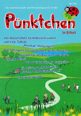 """Unser Wettbewerb um die """"Goldene Kartoffelgabel"""" wird in der Kinderzeitschrift """"Pünktchen"""" vorgestellt"""