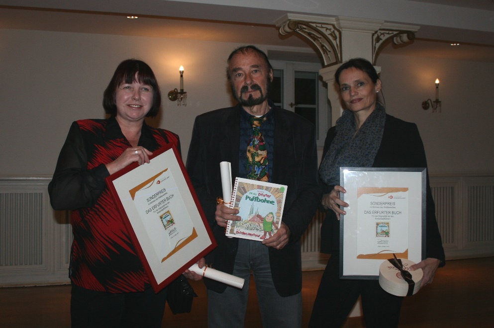 """Sonderpreis der Stiftung Kinderplanet für das Buch """"Mit der Erfurter Puffbohne auf Entdeckungstour"""""""